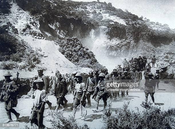 Turkish prisoners of war after the Battle of Gallipoli