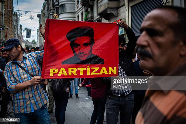 Turkish protesters during clashes with police to mark the oneyear anniversary of the Gezi Park protests on May 31 2014 in Istanbul Turkey The...