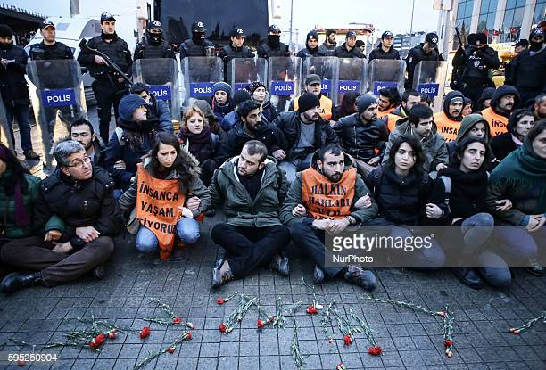 Turkish riot police intervene to protestors whit water and arrests to demonstators who gathered to mark the second anniversary of the death of the...