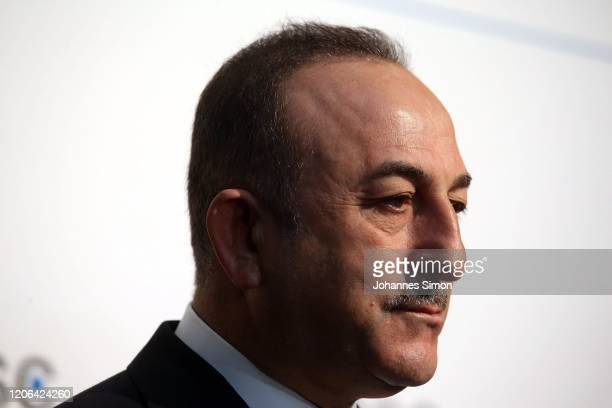 Turkish secretary of state Mevlut Cavusoglu looks on during the 2020 Munich Security Conference on February 15 2020 in Munich Germany The annual...