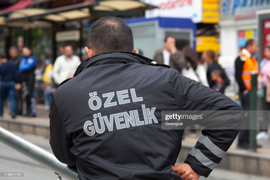 Turkish security agent : Stock Photo