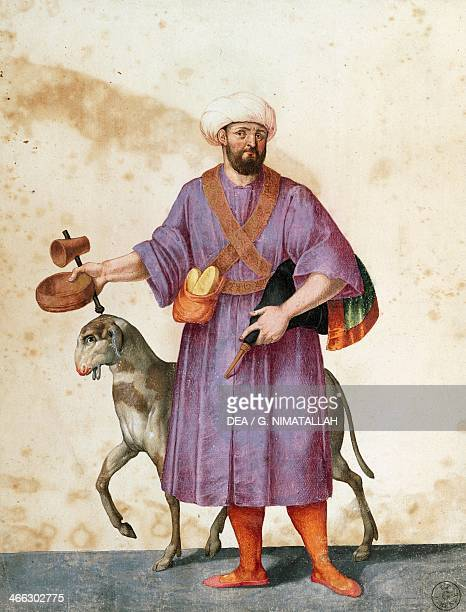 Turkish shepherd with sheep drawing by Jacopo Ligozzi