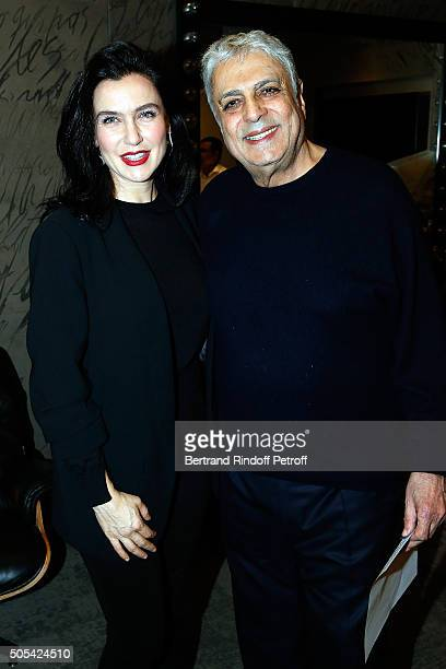 Turkish Singer Sevval Sam and Enrico Macias attend The Enrico Macias Show at L'Olympia on January 16 2016 in Paris France