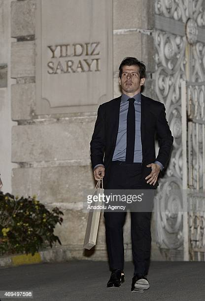 Turkish soccer team Fenerbahce's team captain Emre Belozoglu leaves from historical Yildiz Palace after he attended a reception held by Turkey's...