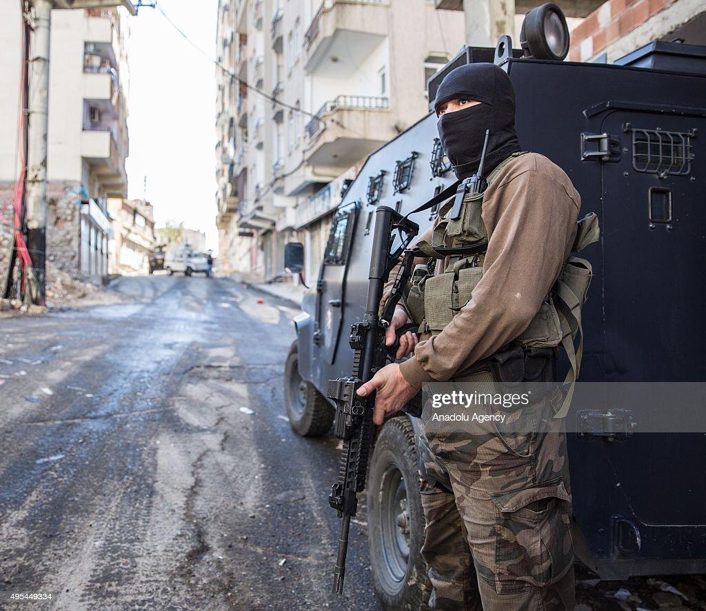 Curfew declared in Turkey's Diyarbakir : News Photo