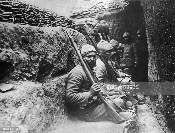 Turkish soldiers awaiting combat against the Greek army ner Smyrne in 1922 The war which began in 1919 ends with the signing of the armistice at...