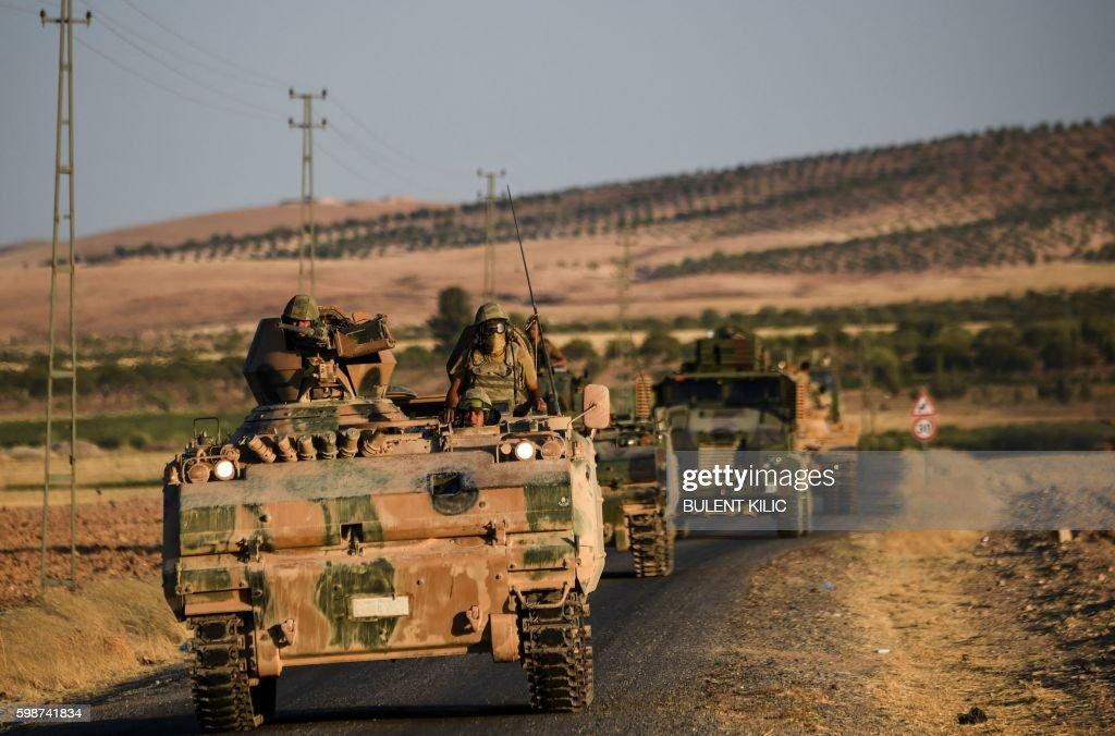 SYRIA-TURKEY-ARMY-CONFLICT : News Photo