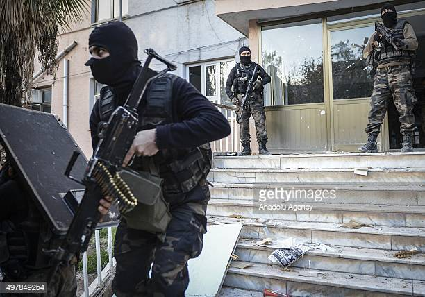 Turkish Special Operation team carry out an operation against terrorist organization PKK in the Nusaybin district of Mardin Turkey on October 18 2015