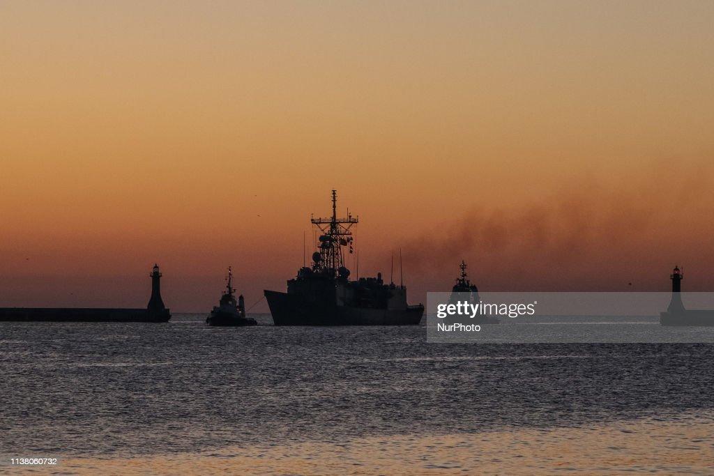 POL: NATO SNMG1 Warships visit Gdynia Port