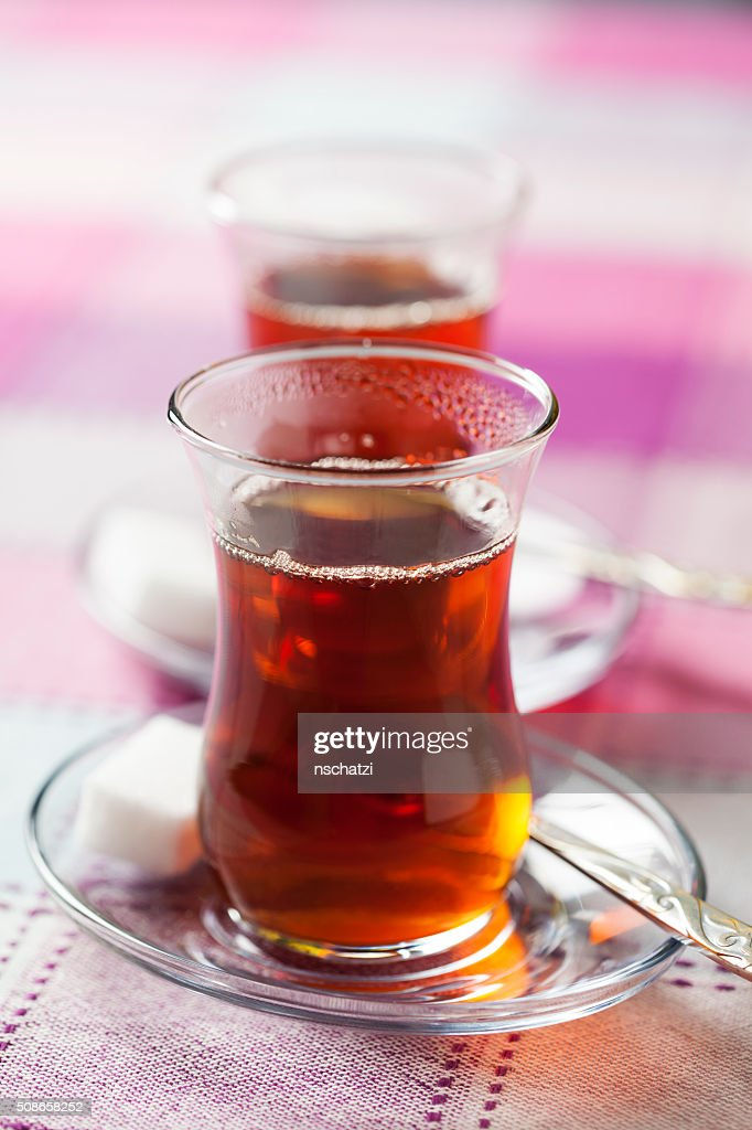 Turkish tea : Stock Photo