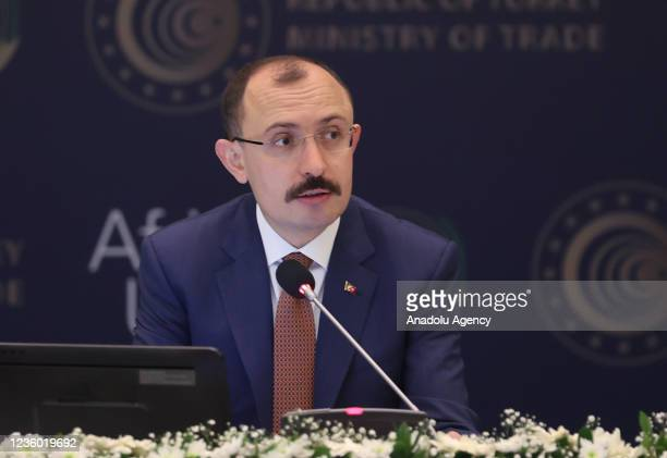 Turkish Trade Minister Mehmet Mus chairs the Ministers' Session within the 3rd Turkey-Africa Economic and Business Forum held at Istanbul Congress...
