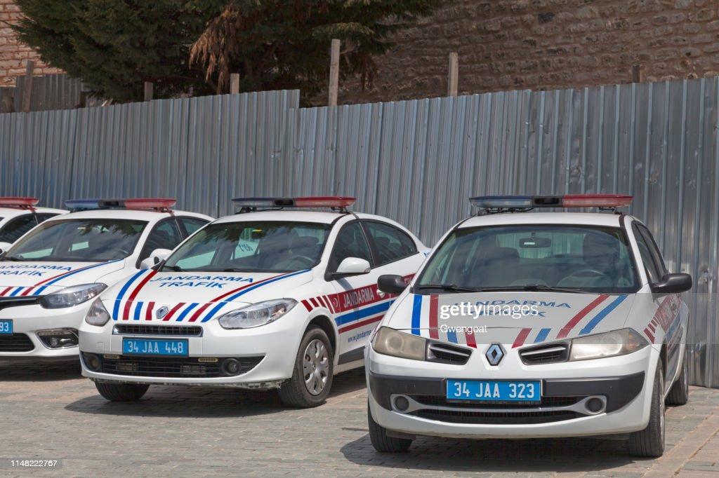 Turkish traffic gendarmerie cars (Trafik jandarma) : Stock Photo