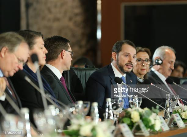Turkish Treasury and Finance Minister Berat Albyarak attends EUTurkey HighLevel Economic Dialogue Meeting at Dolmabahce work office in Istanbul...