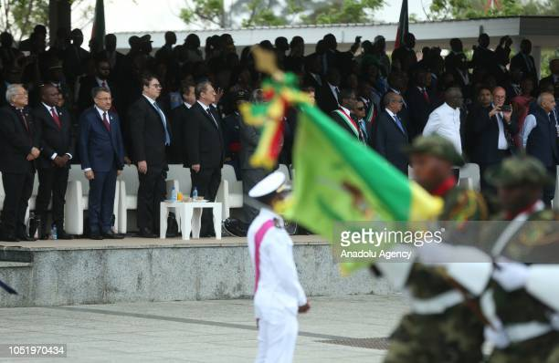 Turkish Vice President Fuat Oktay attends the 50th Independence Day celebration of Equatorial Guinea during his visit in Malabo Equatorial Guinea on...