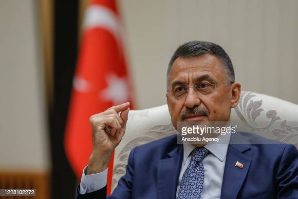 Turkish Vice President, Fuat Oktay speaks during an exclusive interview at the Presidential Complex in Ankara, Turkey on August 18, 2020.