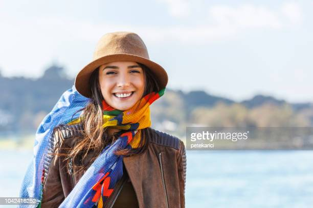 turkish woman portrait - straits stock pictures, royalty-free photos & images