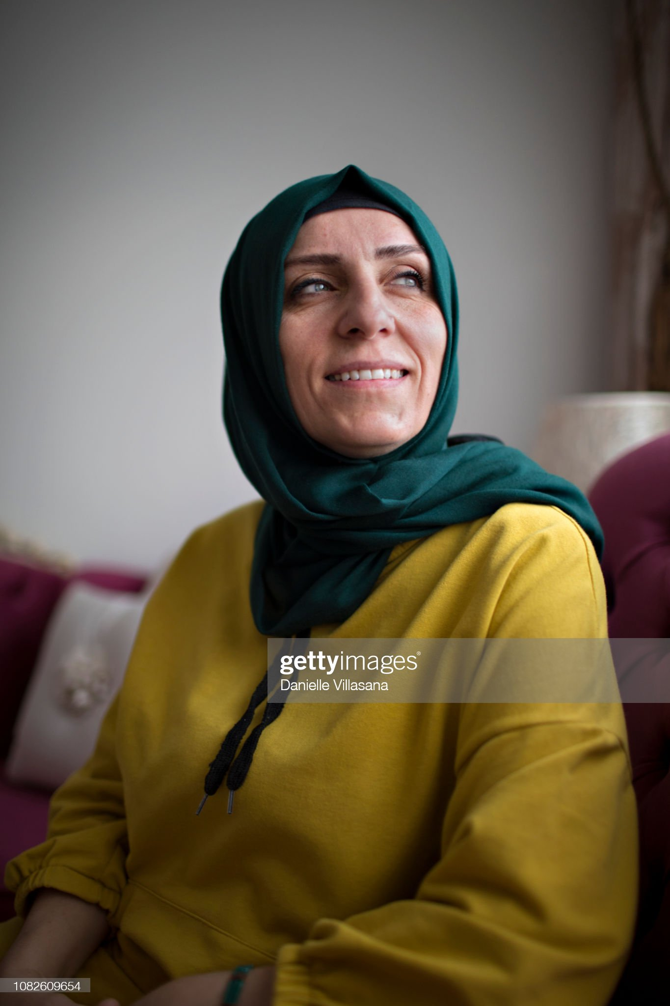 Turkish woman poses for a portrait : Stock Photo