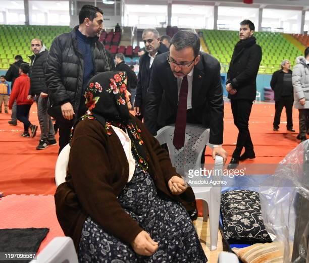 Turkish Youth and Sports Minister Mehmet Kasapoglu football players Selcuk Inan of Galatasaray Hasan Ali Kaldirim of Fenerbahce and Umut Nayir of...