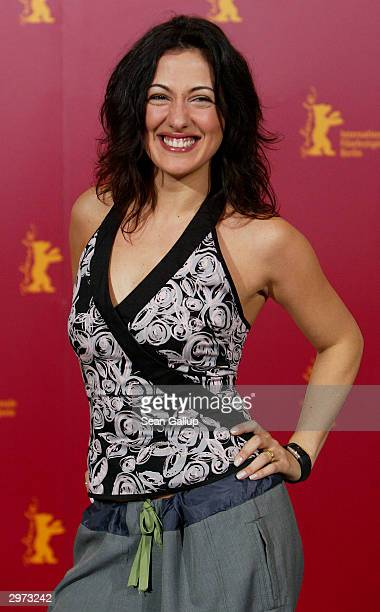 """Turkishactress Meltem Cumbul attends the photocall to the Turkish film """"Head On"""" at the 54th annual Berlinale International Film Festival February..."""