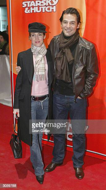 "Turkish-born actor Erol Sander and guest attend the European premiere of ""Starsky And Hutch"" on March 9, 2004 in Munich, Germany."