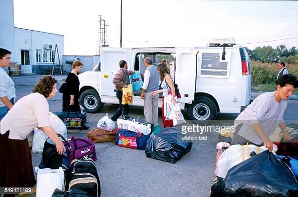 Turkish-Bulgarian border crossing point Kapitan Andreevo, operation roadrunner; leaded by the ZKA Cologne. A bus is completly searched, bags are...