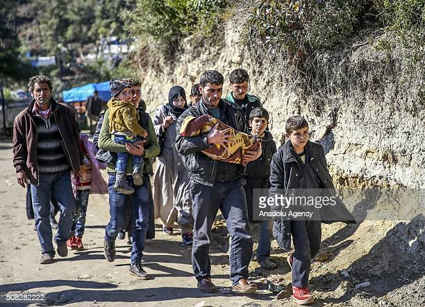 Turkmen and Arab families fled from their homes due to Russian and Assad Regime forces attacks to Turkmen villages in Lattakia arrive to safer zones...