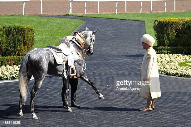 Turkmen horse day is celebrated in Ashgabat, Turkmenistan on 25 April, 2014. President of Turkmenistan Gurbanguly Berdimuhamedow works his magic on...