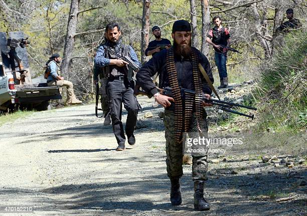 Turkmen troops arrive to deploy at the mountains in fight agains Syrian Regime Forces in the Bayirbucak region in northern Latakia province of Syria...