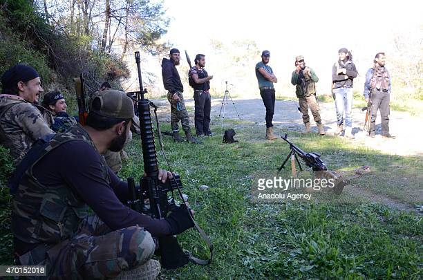 Turkmen troops deploy at the mountains in fight agains Syrian Regime Forces in the Bayirbucak region in northern Latakia province of Syria on April...