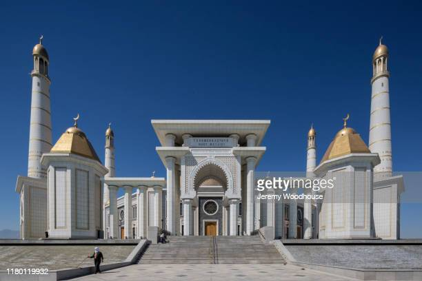 turkmenbashi ruhy mosque - ashgabat stock pictures, royalty-free photos & images