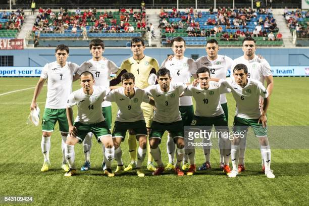 Turkmenistan Team Photo during the Asian Cup Qualifier match between Singapore and Turkmenistan at the Jalan Besar Stadium on September 5 2017 in...