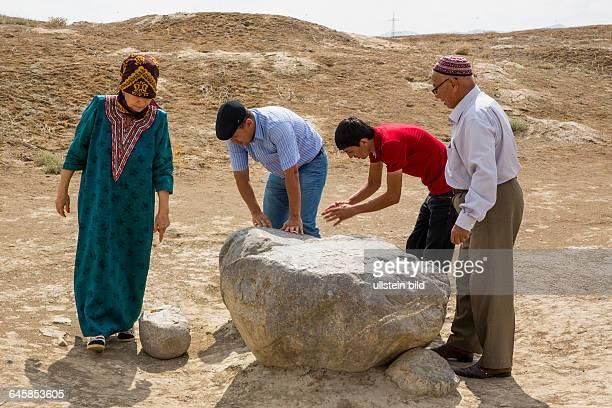 Turkmenistan, Tuerkmenistan, Chorasan, Pilgerstätte Seitdshemaletdin, Ruinen von Anau, Aufnahmedatum:2014, Zentralasien, Turkmenen, Seidenstrasse,...