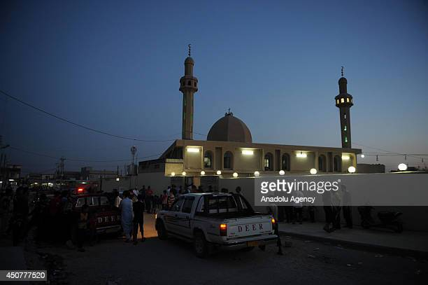 Turkmens fleeing from Tel Afar and taking shelter in mosques survive in Sinjar, Iraq on June 17, 2014 after Islamic State of Iraq and the Levant...