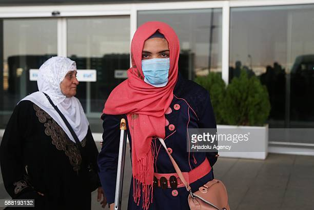 Turkmens who have been affected by the chemical weapon attack of Daesh staged on 2016 March in Tuz Khormatu District of Kirkuk are brought to Erbil...