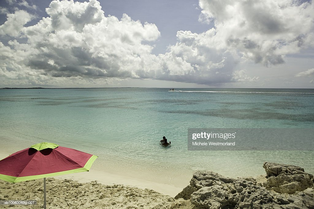 Turks and Caicos, beach areas of Grace Bay in Provodenciales : Stock Photo