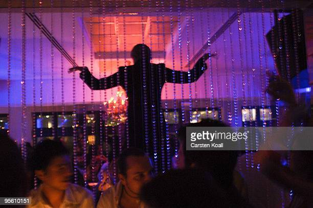 Turks dance in the club Reina on May 21 2006 in Istanbul Turkey Beyoglu is the district on the north bank of the Golden Horn from Karakoy and the...