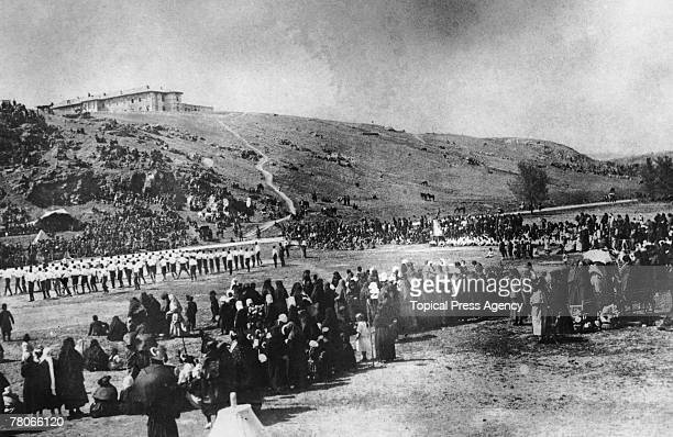 Turks in Ankara celebrate their victory at Smyrna during the GrecoTurkish War September 1922