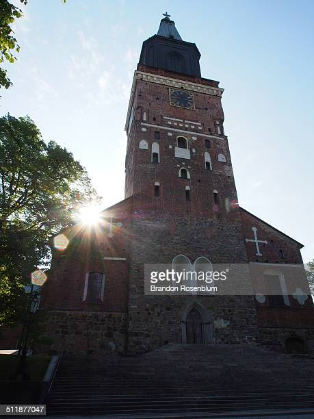 turku cathedral - turku finland stock photos and pictures