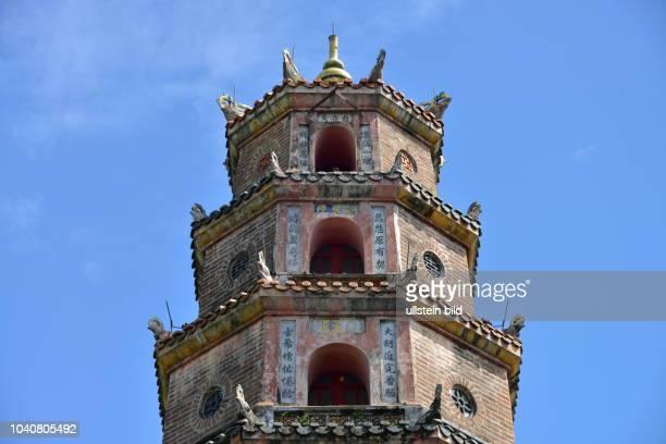 Turm der Freude und Anmut ´Thap Phuoc Duyen´ ThienMuPagode Hue Vietnam