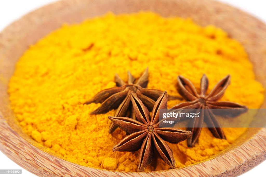 Turmeric in a bowl : Stock Photo