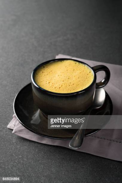 Turmeric latte. The 'golden milk' or Golden Latte.