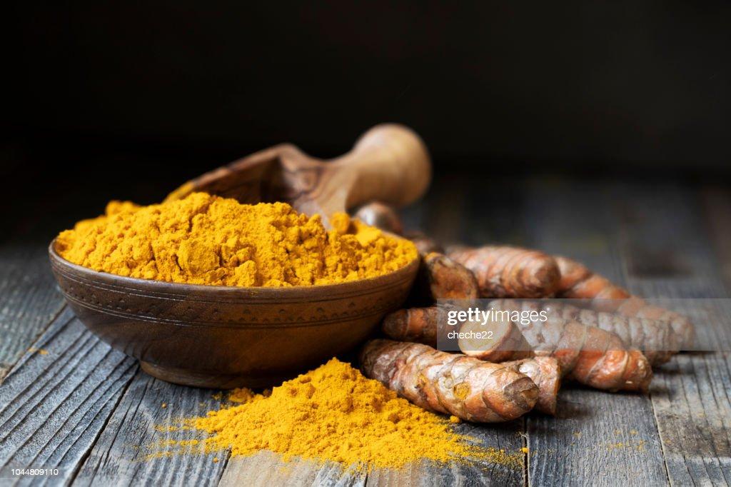 Turmeric Powder Still Life : Stock Photo
