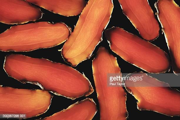 Turmerics sliced