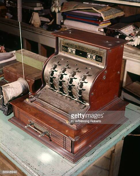Turn Century Cash Register Old Store Counter String Spool To Tie Up Packages Merchandising in Stores