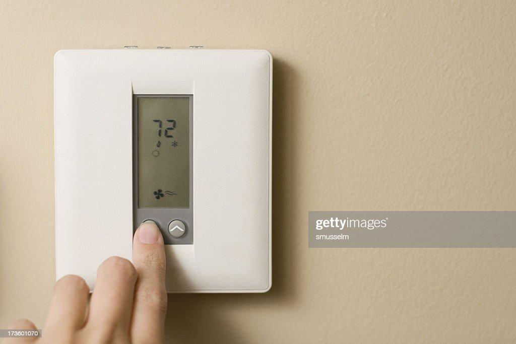 Desligue o termostato : Foto de stock