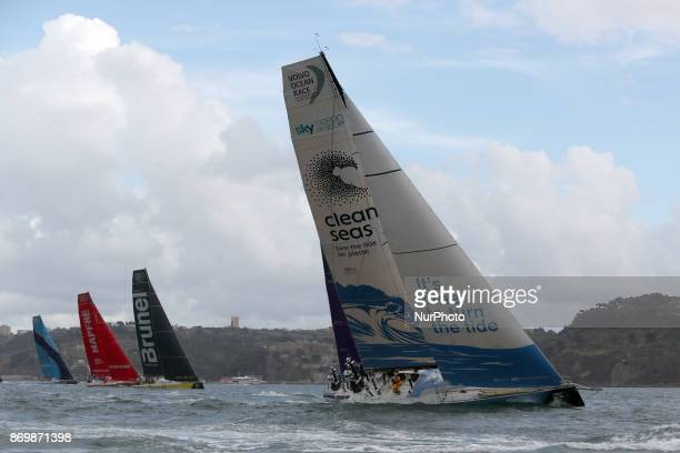 Turn the Tide on Plastic team captained by Britain Dee Caffari Team Brunel captained by Dutch Bouwe Bekking MAPFRE team captained by Spanish Xabi...