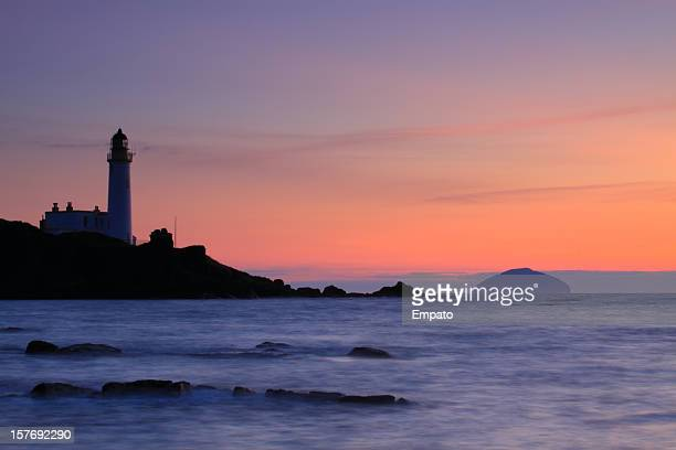Turnberry Lighthouse and Ailsa Craig at Sunset. (XL)