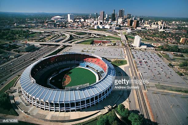 turner field, georgia, atlanta, usa - baseball stadium stock pictures, royalty-free photos & images