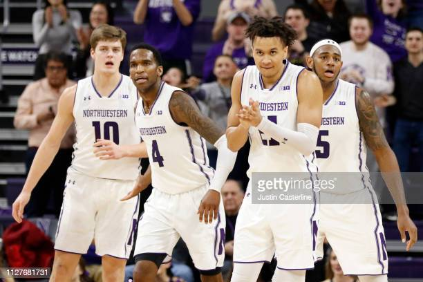 J Turner of the Northwestern Wildcats reacts after a play with his team in the game against the Penn State Nittany Lions during the second half at...