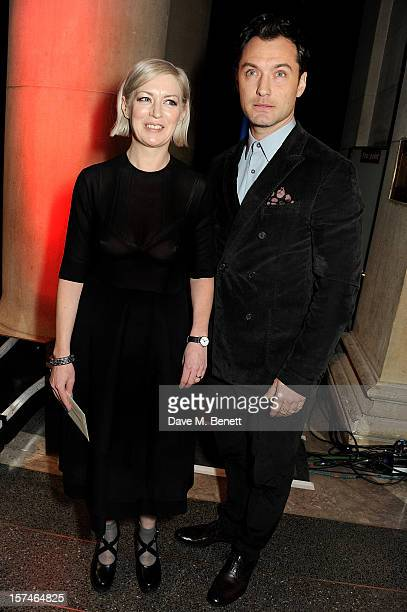 Turner Prize 2012 Winner Elizabeth Price and actor Jude Law attend the Turner Prize 2012 winner announcement at the Tate Britain on December 3 2012...